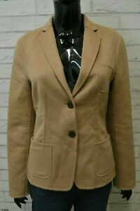 Giacca-Donna-HUGO-BOSS-Lana-Vergine-Cappotto-Trench-Taglia-42-Jacket-Beige
