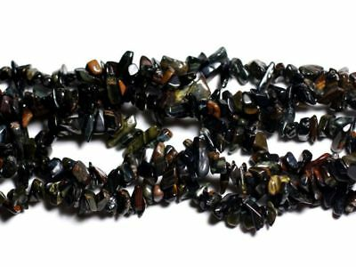 Obsidienne Flocon Rocailles Chips 5-10mm Perles de Pierre Fil 89cm 320pc env