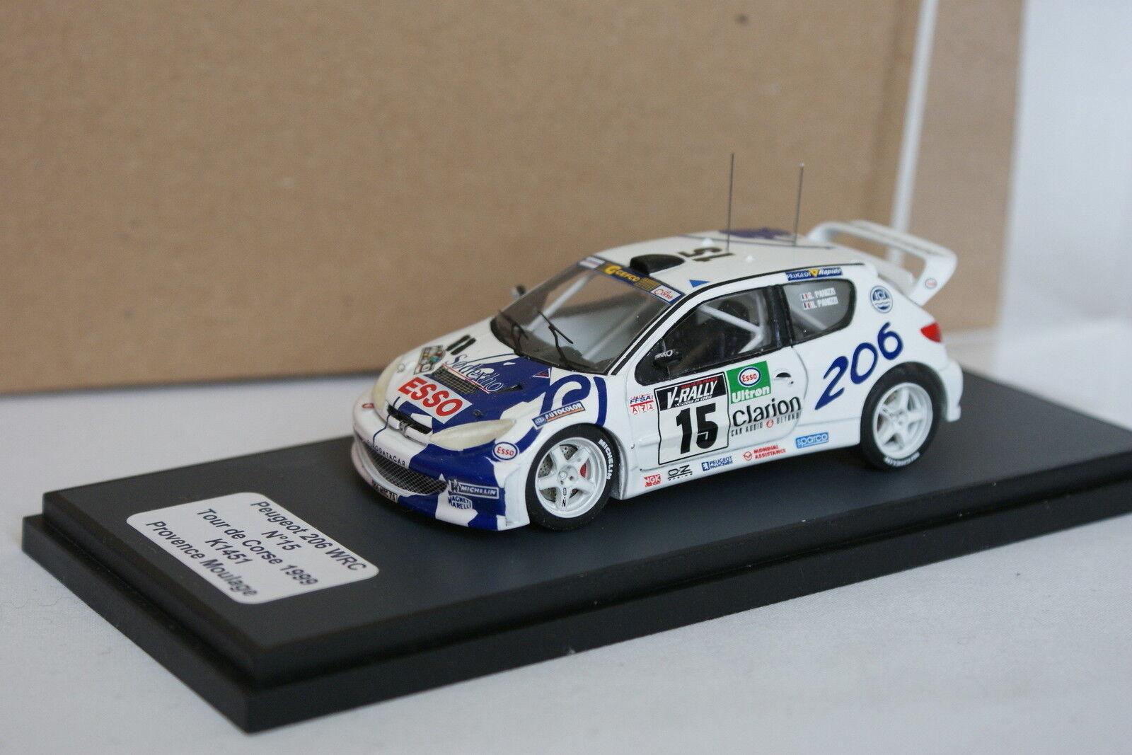 Provence moulage kit assembled 1 43 - peugeot 206 wrc tour de corse 1999 n º 15