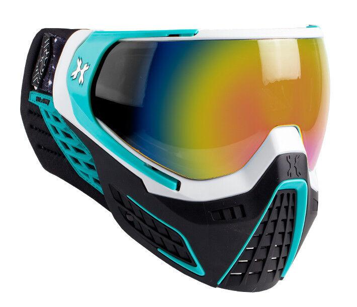 HK Army KLR KLR Army Goggles - Mist - Weiß / Teal w/ Fusion Mirror Thermal Lens c8978f