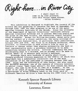 """WILLIAM BURROUGHS ALLEN GINSBERG """"RIGHT HERE IN RIVER CITY"""" 1987 EXHIBITION"""
