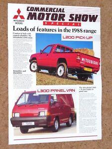 1a5707332b Image is loading 1988-MITSUBISHI-COMMERCIALS-Sales-Brochure-L200-L300-Panel-
