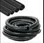 Espiral manguera de succión-entrega hecha de Dark Flexible Corrugado Reforzado LDPE