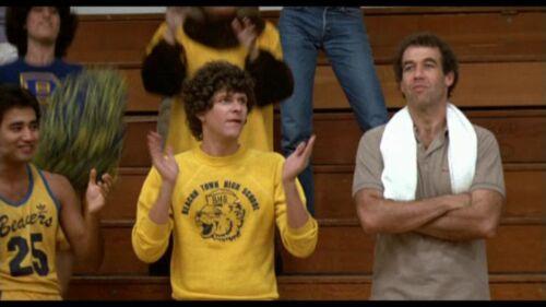 Movie 80/'s BNWT Michael J Fox Beacon Town High School T-Shirt Teen Wolf