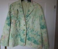 Damen Blazer, Jacke, Farbe grün/bunt neuwertig Gr. 48