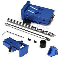 Mini Pocket Hole Jig Kit Kreg Style w/ Step Drilling Bit Woodwork Joint Tool Set