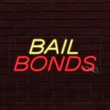 Brand New Bail Bonds 32x13x1 Inch Led Flex Indoor Sign 30014
