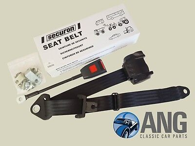 Front Automatic Seat Belt For Triumph Herald Saloon 1961-1971 Black