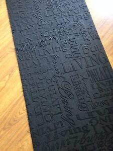 Tapis cuisine coureur mètre gris VIE anthracite noir h 67 cm moderne ...