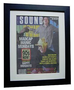 HAPPY-MONDAYS-POSTER-AD-FRAMED-OFFICIAL-SOUNDS-ORIGINAL-1989-EXPRESS-GLOBAL-SHIP
