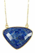 Sonya Renee Lee Pendant Necklace Lapis 14k Gold-plated $78