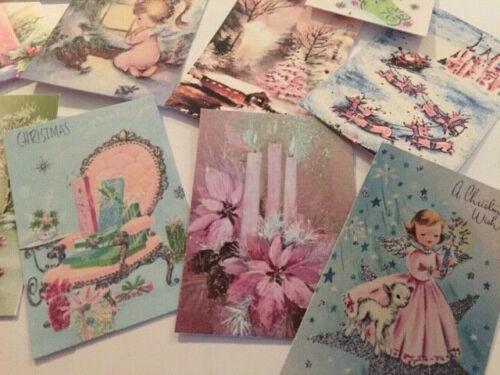 Rosa dado corta//etiquetas de regalo de Navidad Estilo Vintage ~ tan lindo 36 pieza artículo #A-136