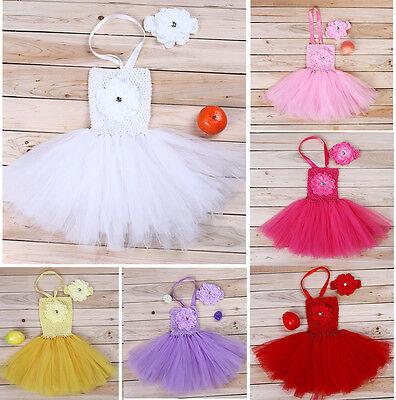 Kids Baby Girl Newborn Headband+Dress Tutu Clothing Set Outfit Photo Props 0-18M