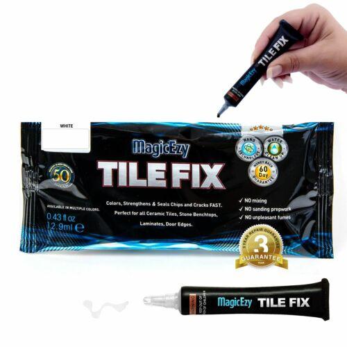White MagicEzy Tile Fix: Fix /& Color Porcelain Tile Cracks /& Chips Fast.