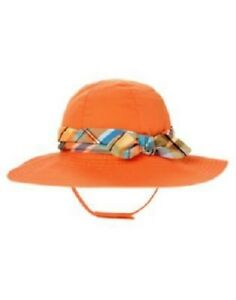 NWT GYMBOREE TROPICAL BLOOM ORANGE FLORAL SUN HAT