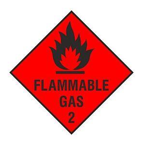 1 X Inflammable Gaz Autocollant D'avertissement Pour La Sécurité O4wzxfmt-08001828-135424773