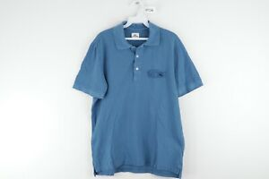 Lacoste-Mens-Size-Small-Monochromatic-Big-Croc-Logo-Short-Sleeve-Polo-Shirt-Blue