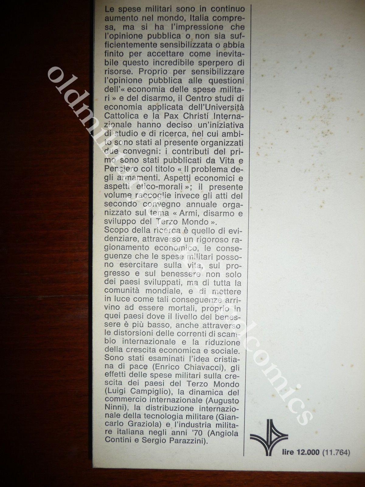 SPESE MILITARI TECNOLOGIA E RAPPORTI NORD-SUD CONSEGUENZE SPESE MILITARI SU VITA