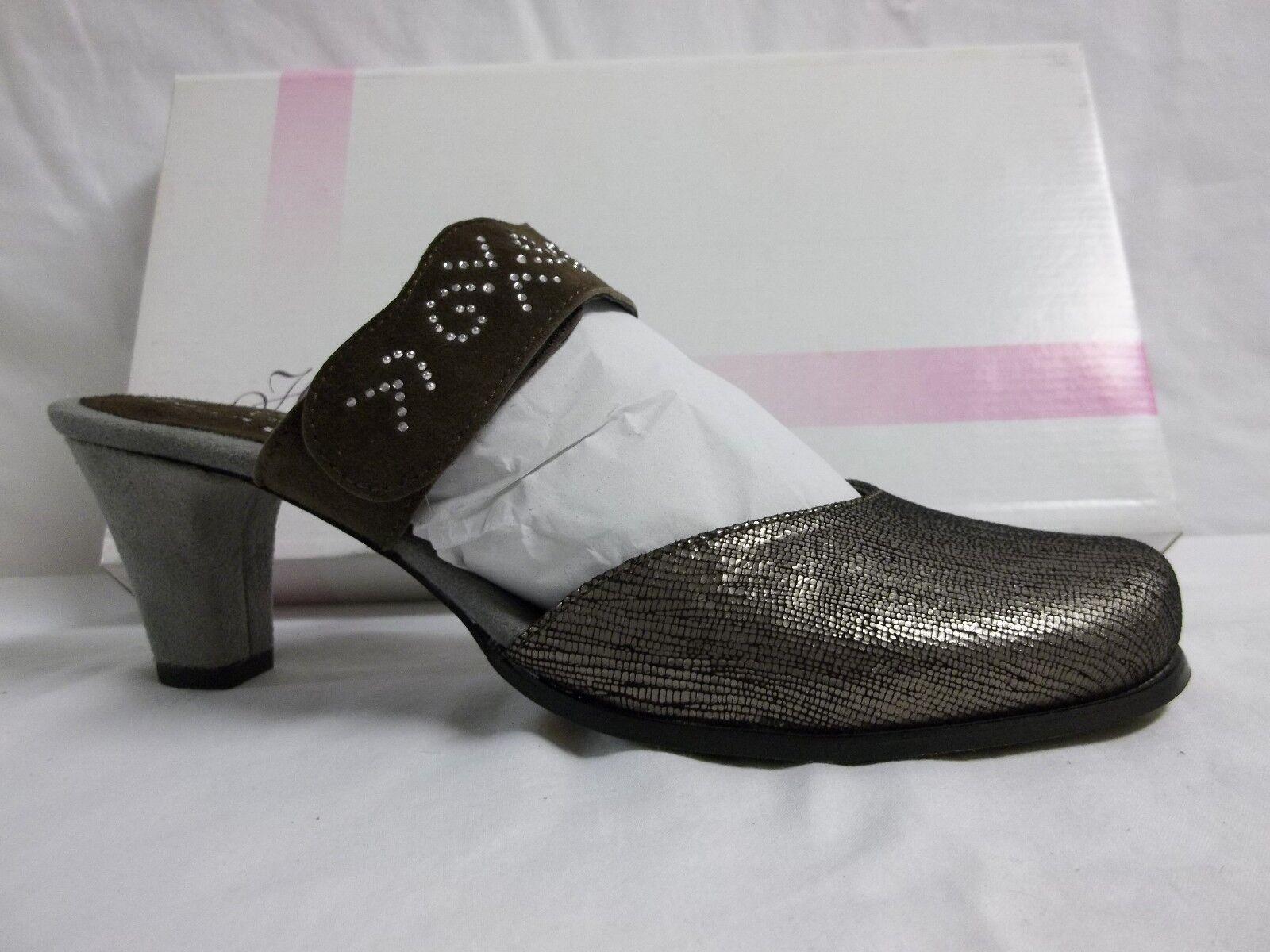 Prezzo al piano Helle Comfort EU 41 US 10 10 10 M Emerald Taupe Leather Mules Heels New donna scarpe  migliore offerta