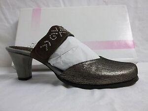 Us Mules Comfort émeraude 41 Helle 10 cuir M Femmes Chaussures en taupe Talons Eu t4wqdY