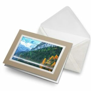 Greetings-Card-Biege-Dachstein-Mountains-Lake-Austria-16417