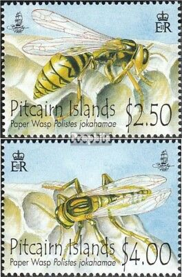 Australia & Oceania Stamps Romantic Pitcairn 827-828 Mint Never Hinged Mnh 2011 Pitcairn Feldwespe Nourishing The Kidneys Relieving Rheumatism