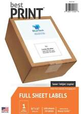 Best Print Full Sheet Shipping Address Labels 8 12 X 11 100 Labelspack