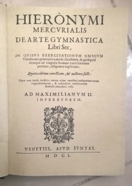 Anastatica Hieronymi Mercvrialis Deartegymnastica 1601 Materiali Di Alta Qualità Al 100%