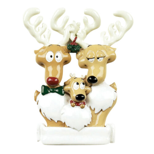 Reindeer Family of 3 Details about  /Personalized Christmas Tree Ornament 2020 Holiday Gift