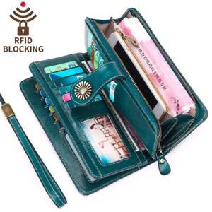 RFID-Women-Leather-Long-Wallet-Zipper-Multifunction-Large-Capacity-Purse-Wallet