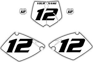 Fits KTM 380 SX 2001-2002 Pre-Printed White Backgrounds with Black Pinstripe