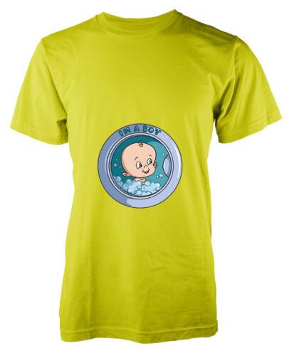 I/'m a Boy Mum to Be Washing Machine Door Baby Adult T-Shirt