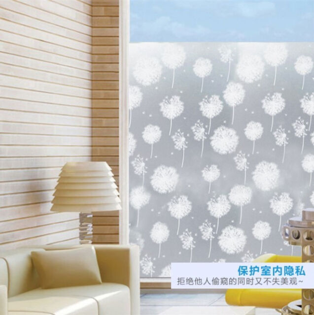 Danelion Privacy Frosted Static Home Bedroom Bathroom Glass Window Film 40cmx2M