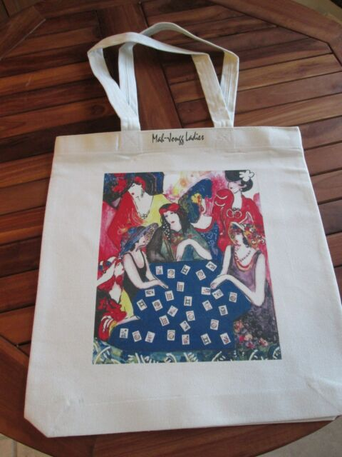 Mah Jongg Canvas Tote Bag