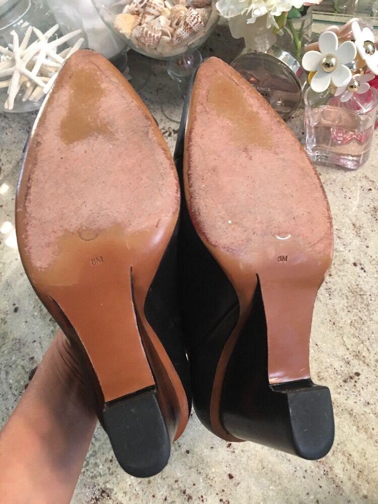 10 10 10 crosby derek lam Black boots Booties Wedge Pumps 8 160b51