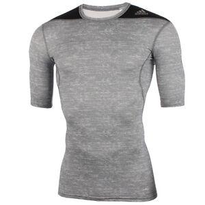 adidas Techfit Base T-Shirt Kurzarm Shortsleeve Kompression Fitness Jogging SALE