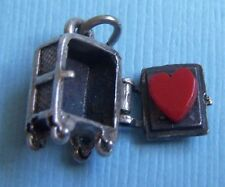 Vintage Beau movable safe with red heart inside sterling charm
