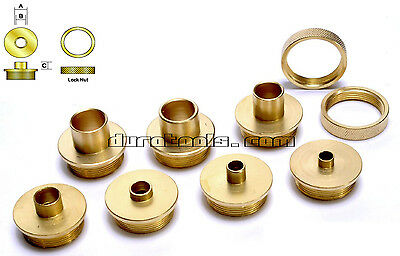 Brass Router Template Guide Bushing Set, Dewalt Porter Cable Skil +more dovetail