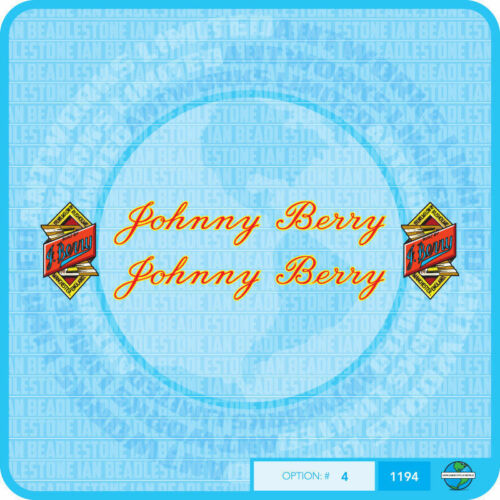 JOHNNY Berry bicyclette Stickers Transferts Stickers-Set 4