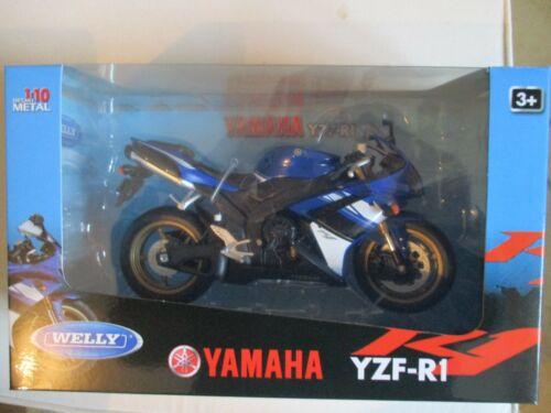 MOTO  MINIATURE YAMAHA YZF R1   1//10 WELLY NEUVE EN BOITE