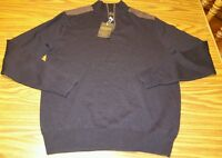 Men's Redmond Clothing Outfitters Black 1/4 Zip Designer Wool Sweater Medium