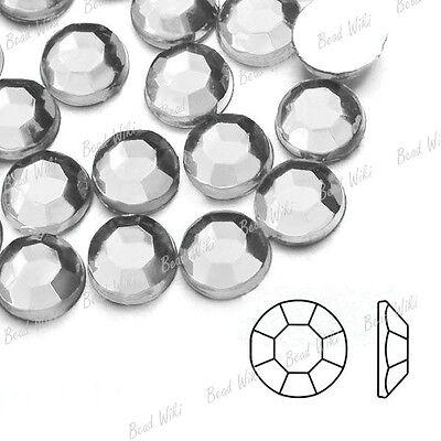1000pcs Round Flat Back Acrylic Crystal Rhinestones Gems SS4--SS46 Wholesale