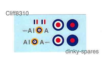 Attento Dinky 719/741 Spitfire Mk11 A1 | Una Squadriglia | Scivolo Ad Acqua Trasferimento-mostra Il Titolo Originale Né Troppo Duro Né Troppo Morbido