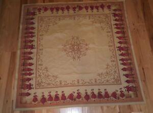 F. FABRICE DE VILLENEUVE Tapestry 56X56 British Court Red Coats ...