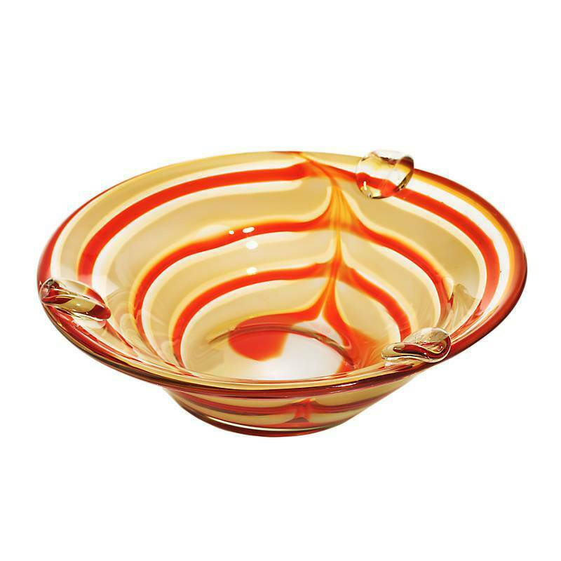 Aschenbecher, Ascher JOZY ART QUEEN creme Orange Ø=23,5cm (CRISTALICA) AG01374