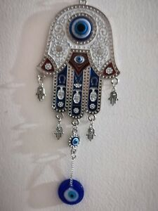 Details about Hamsa Blue evil eye magic wall Decoration Hanging Metal large  protectionTalisman