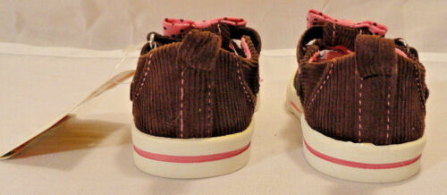 GARANIMALS INFANT//TODDLER GIRLS CASUAL BROWN CORD SHOES CHOOSE SIZE 3,4,5,6,