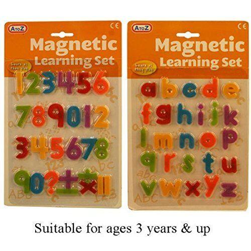 63039 A to Z Magnetic Letters Child//Toddler Educational Alphabet Fridge Magnet