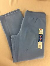 Women/'s Hanes  Soft Fleece Open Leg Sweatpants Size Large Blue NEW With Tags