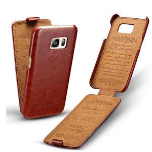 big sale c528c 1d750 Details about Vintage Vertical Flip Leather Case Protective Cover For  Samsung Galaxy S7 edge C